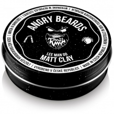 Angry Beards Bílý jíl na vlasy Lee Man Go 120 g