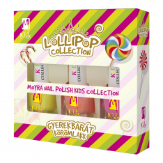 Moyra KIDS Lollipop collection Dětský lak na nehty sada 3 x 7 ml