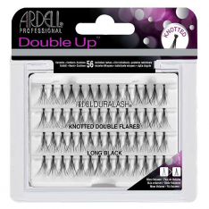 Ardell Double Up Knotted trsy zdvojené s uzlíkom Long Black - dlhé