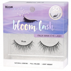 BLOOM 5D Faux Mink umelé mihalnice - Rose